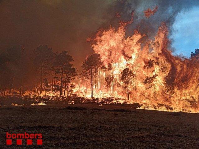 Incendi actiu a Catalunya