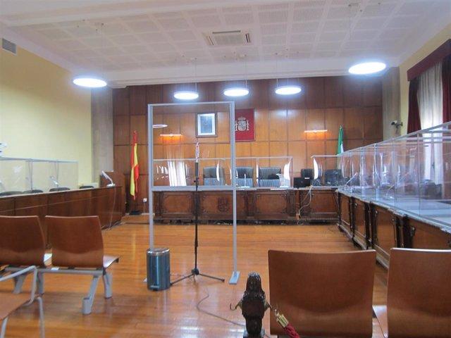 Archivo - Sala de vistas de la Audiencia de Jaén donde se celebró el juicio