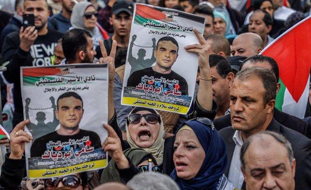 Archivo - Arxivo - Manifestació pels presos palestins a Cisjordània