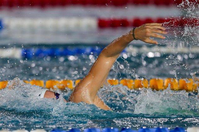 Archivo - La nadadora española Jessica Vall