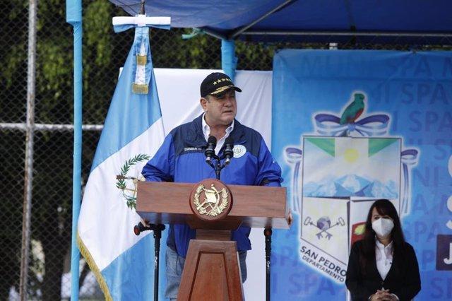 Archivo - Alejandro Giammattei, presidente de Guatemala