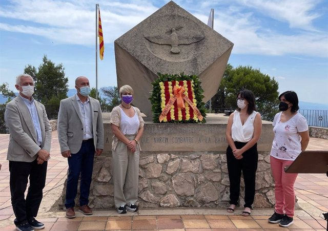 La consellera de Justícia de la Generalitat, Lourdes Ciuró, en l'acte per recordar la Batalla de l'Ebre.