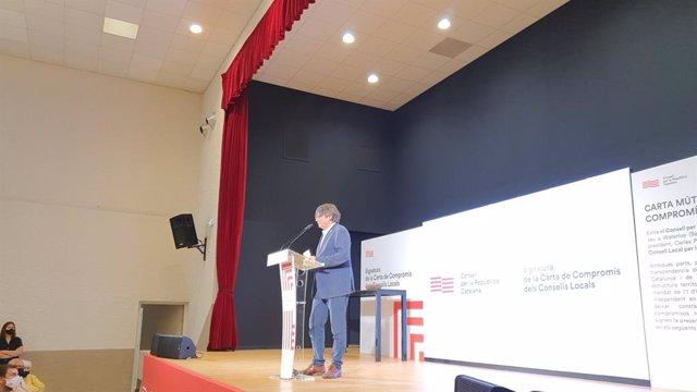 L'expresident de la Generalitat i líder de Junts, Carles Puigdemont