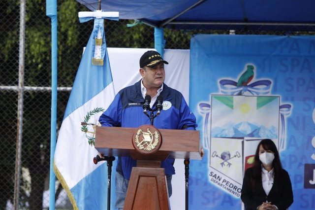 Archivo - Arxiu - Alejandro Giammattei, president de Guatemala
