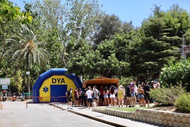 Cribado previo al Festival Castlepark en Marenostrum Fuengirola