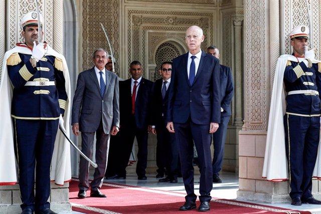 Archivo - El presidente de Túnez. Kais Saied.