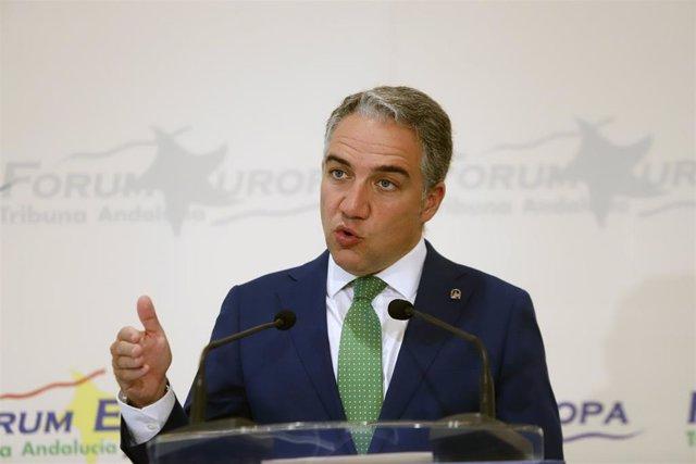 El consejero de la Presidencia, Elías Bendodo
