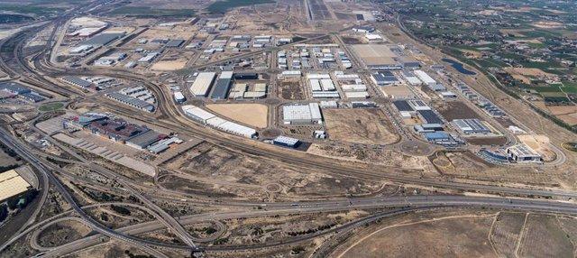 Imagen aérea de la zona de Plaza donde se sitúa el desarrollo de Panattoni.
