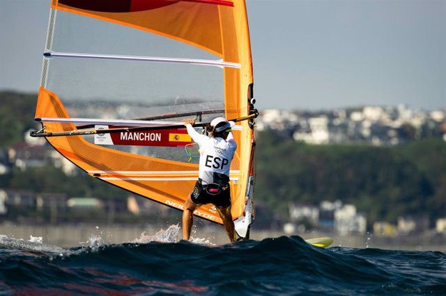 Blanca Manchón en la clase RS:X femenino en los Juegos Olímpicos de Tokio