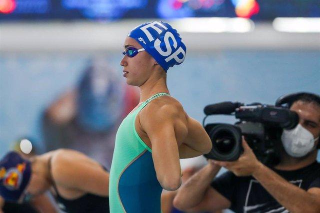 Archivo - La nadadora española África Zamorano