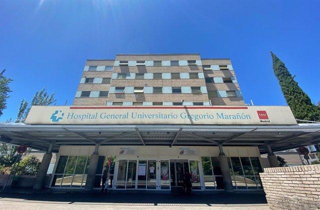 Archivo - Fachada del Hospital Gregorio Marañón.