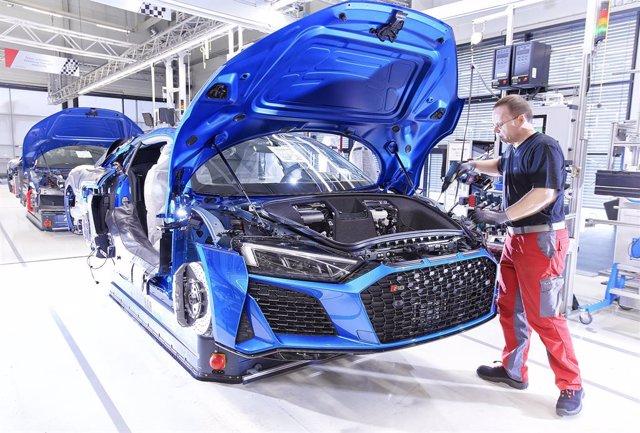 Archivo - Producción del Audi R8 en Neckarsulm (Alemania)