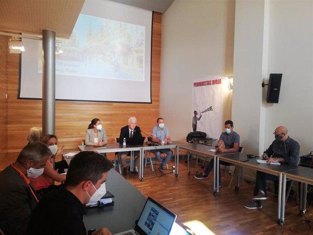 Encuentro de Hermoso de Mendoza con los medios de comunicación
