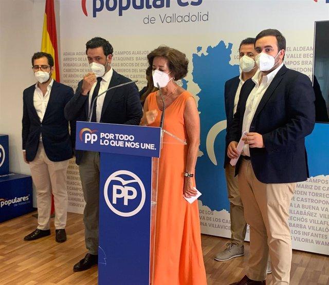 Rueda de prensa del PP en Valladolid con parlamentarios nacionales sobre el sector de la Automoción.