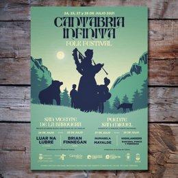 Cartel promocional del festival folk 'Cantabria Infinita'