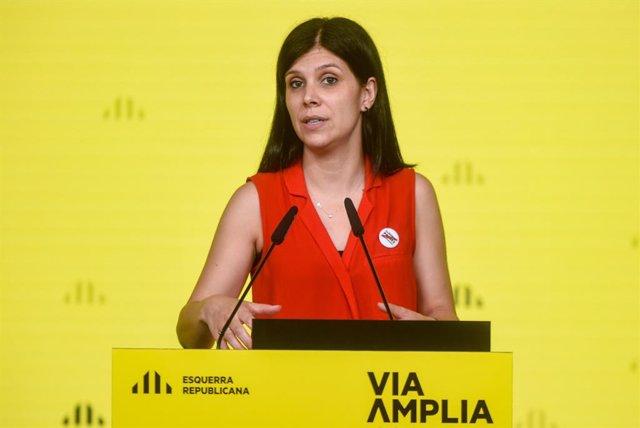 Archivo - Arxiu - La secretària general adjunta i portaveu d'ERC, Marta Vilalta, en una roda de premsa telemàtica