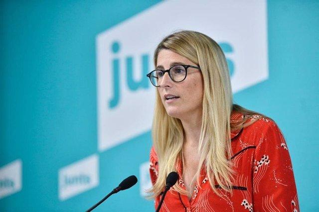 La vicepresidenta de Junts, Elsa Artadi, en la conferència de premsa
