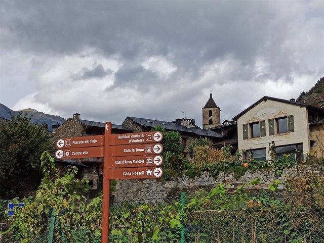 Indicacions al poble d'Ordino (Andorra)