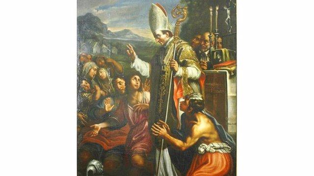 Imagen Del Arzobispo De Lima Toribio De Mogrovejo En Obra Presente En El Museo De Salamanca.