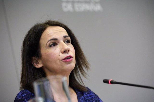 La secretaria de Estado de Sanidad, Silvia Calzón, interviene durante una rueda de prensa para informar sobre la pandemia de Covid-19, a 26 de julio de 2021, en el Ministerio de Sanidad, Madrid, (España).