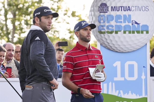 Archivo - Adri Arnaus y Jon Rahm en el Open de España