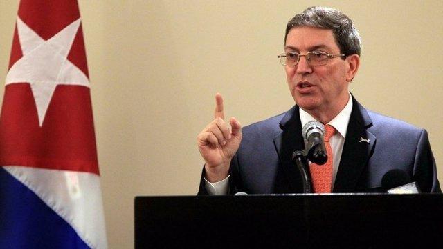 Archivo -    El Ministro de Relaciones Exteriores de Cuba, Bruno Rodríguez Parrilla, ha reiterado la propuesta del Gobierno cubano de dialogar con la administración del presidente de Estados Unidos, Donald Trump, en una entrevista concedida a 'TVE'