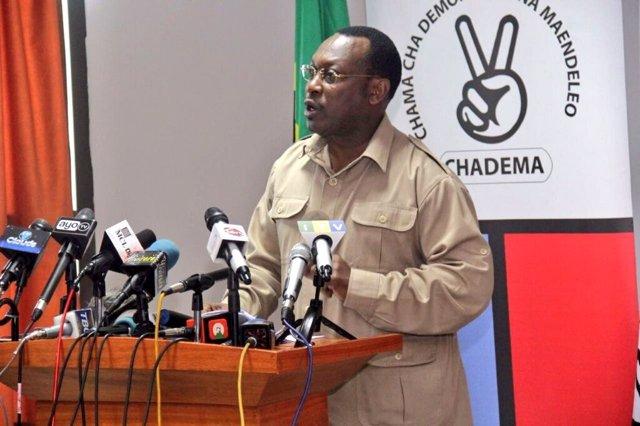Archivo - Freeman Mbowe, líder de Chadema