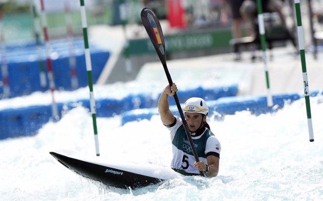 La palista española Maialen Chourraut en los Juegos Olímpicos de Tokio