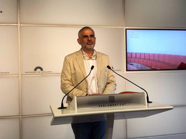 Arxiu - El líder de Cs a Catalunya, Carlos Carrizosa, en una roda de premsa al Parlament