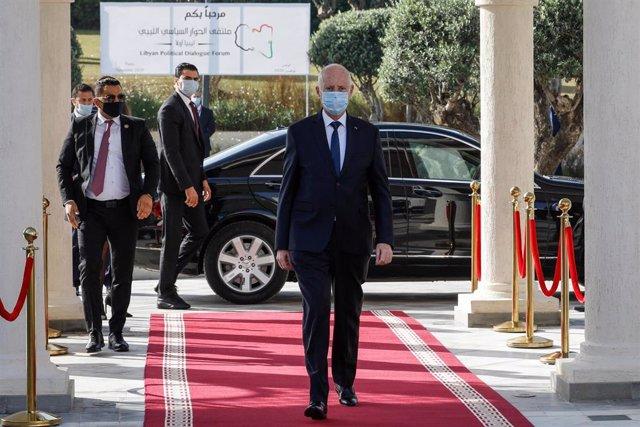 Archivo - El presidente tunecino, Kais Saied.