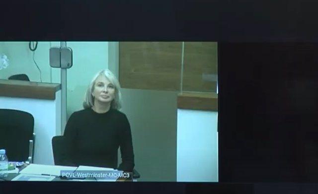 Archivo - Declaración por videoconferencia de Corinna Larsen en el juicio contra el comisario jubilado y en prisión provisional José Manuel Villarejo.