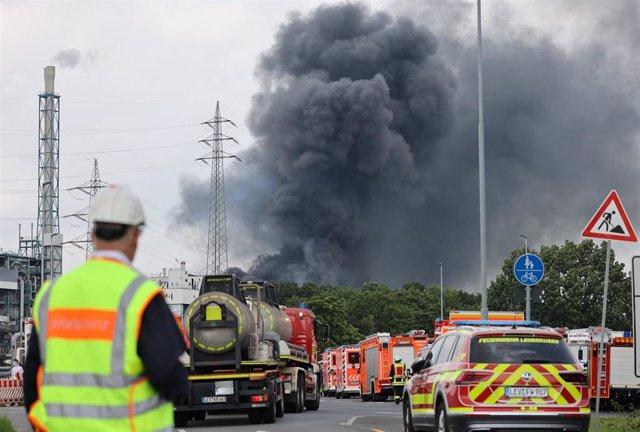 Chemicals plant explosion in Leverkusen