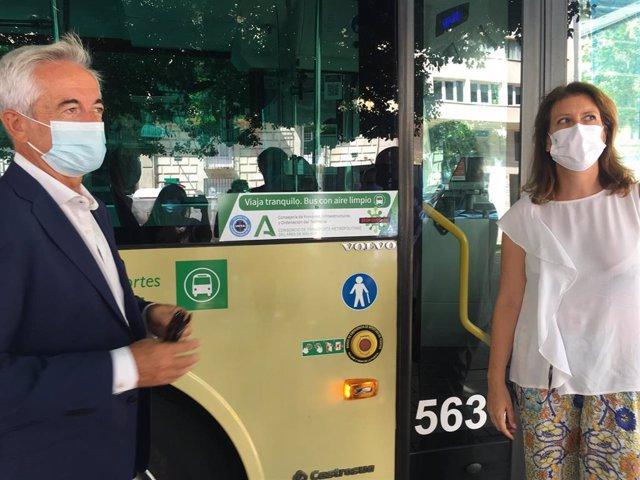 La Junta instala filtros purificadores de aire, capaces de neutralizar el COVID-19, en autobuses del Consorcio de Transportes de Málaga