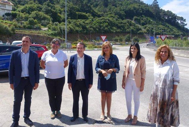 Los alcaldes y alcaldesas de Vigo, Redondela, O Porriño, Salceda y Tui y la presidenta de la Diputación visitan el entorno del puente de Rande