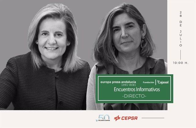 Europa Press organiza este miércoles un encuentro informativo con Rocío Blanco y Fátima Báñez