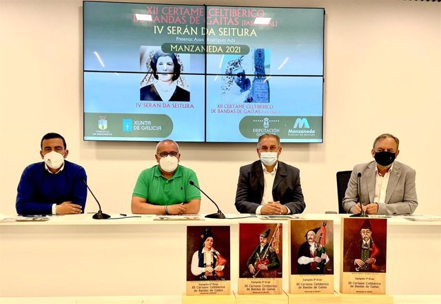 Rueda de prensa de presentación del XII Certame Celtibérico de Bandas de Gaitas de Manzaneda (Ourense)