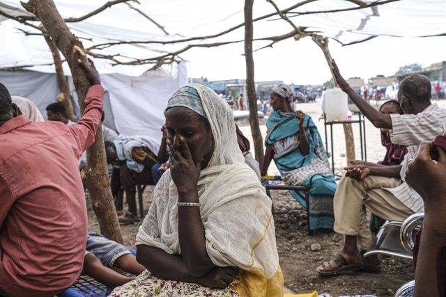 Archivo - Refugiados de Etiopía en Sudán tras huir de los combates en la región de Tigray