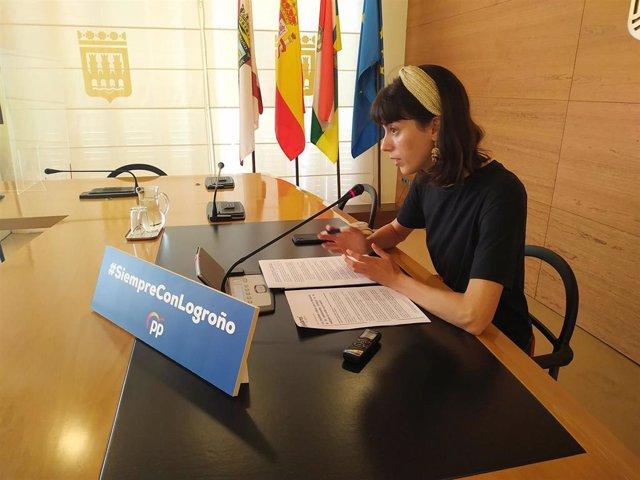 La concejala del PP en Logroño Patricia Lapeña