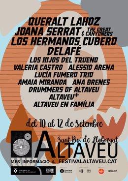 Cartell del Festival Altaveu de Sant Boi de Llobregat (Barcelona) 2021