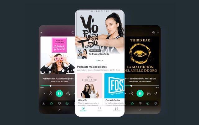 Plataforma de audiolibros y pódcast