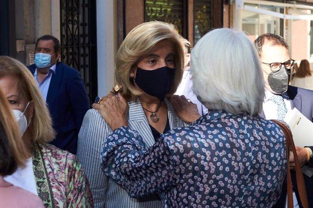 Báñez antes de entrar al encuentro informativo de Europa Press.