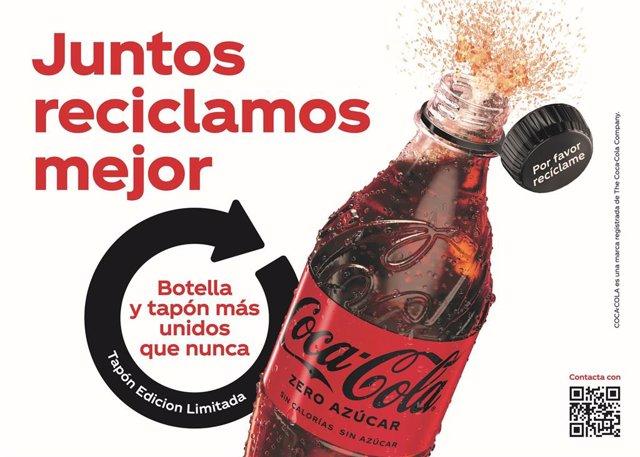 Coca-Cola lanza en España sus nuevos tapones adheridos a sus botellas