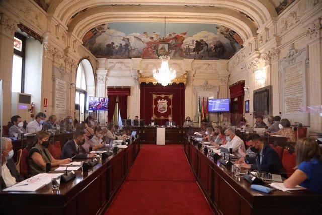 Pleno ordinario del Ayuntamiento de Málaga correspondiente al mes de junio de 2021 y celebrado el 1 de julio.