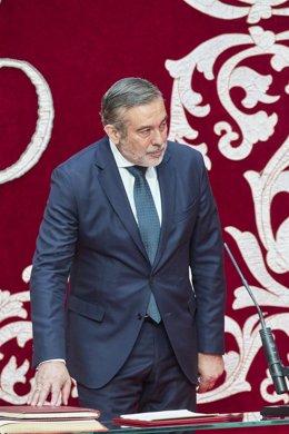 Archivo - El consejero de Presidencia, Justicia e Interior, Enrique López, toma posesión para dicho cargo en el acto de toma de posesión de los miembros del Consejo de Gobierno de la Comunidad de Madrid de la XII Legislatura, a 21 de junio de 2021, en la