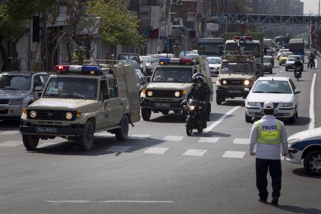 Policía en Irán