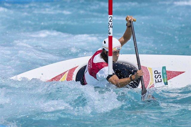 Nuria Vilarrubla durante una de sus bajadas en los Juegos Olímpicos de Tokio