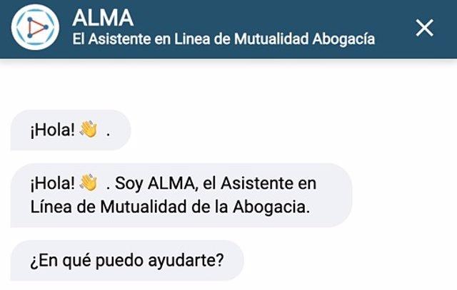 ALMA, Asistente en línea Mutualidad Abogacía