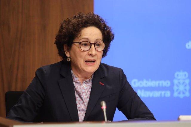 Archivo - La consejera de Derechos Sociales del Gobierno de Navarra, Mari Carmen Maeztu