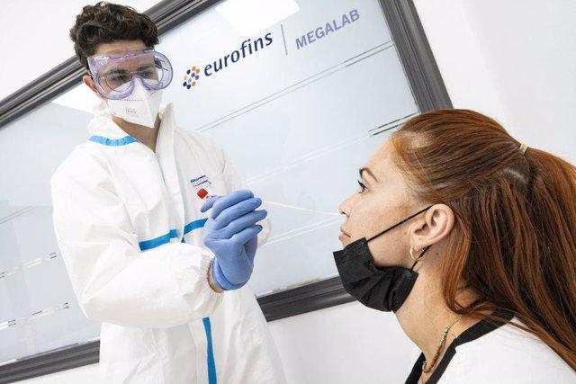 Eurofins Megalab lleva realizados más de 200.000 test COVID.