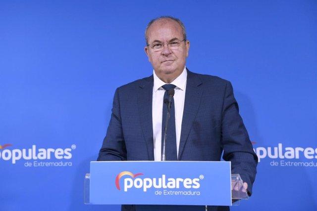 El presidente del PP de Extremadura, José Antonio Monago, en una imagen de archivo.
